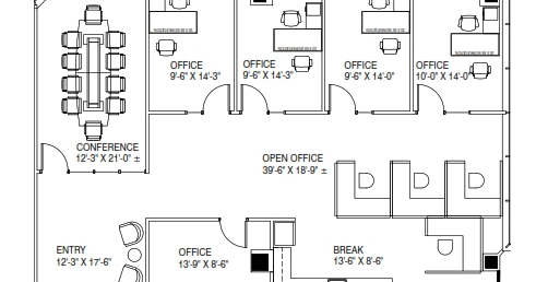 Centerpoint IV office space for lease floor plan